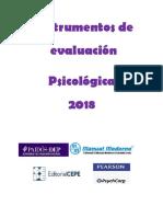 Catálogo Instrumentos de Evaluación Psicológica 2018 MM