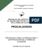 Protocolo Para La Produccion de Fibra de Algodon