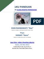 Buku Panduan Lengkap Mengelar Acara Resepsi Pernikahan Jakarta