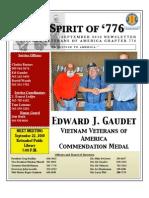 Vietnam Veterans of America Chapter 776 - Sep. 2010 News