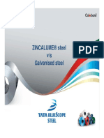Zincalume Steel 55% AL Zn vs Galvanised Steel
