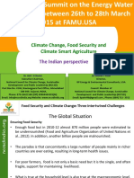 Climate Change Food Security and Climate Smart Agriculture Indian Perspactive