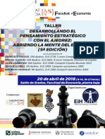 Folleto Final Taller Ajedrez y Estrategia 2018