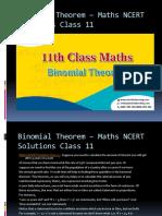 Binomial Theorem – Maths NCERT Solutions Class 11