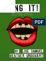 SAMUEL y URQUHART - Sing It, The Essential Guide to Musical Improvised Comedy