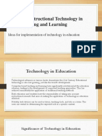 The Use of Instructional Technology in Teaching and Learning