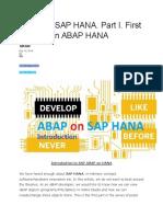 ABAP on SAP HANA