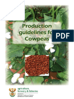 Cowpea - Production Guidelines for Cowpea