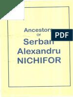 Serban Nichifor - Genealogy