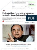 Padmavati is an International Conspiracy Funded by Dubai_ Subramanian Swamy _ Zee News
