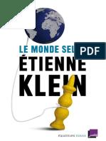 Le Monde Selon Etienne Klein (Essais) (Fre - Etienne Klein