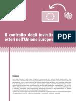Il Controllo Degli Investimenti Esteri Nell'UE