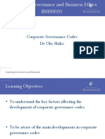 Corporate Governance Codes(1)