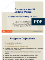 Performance Audit