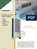 Modulares USV System 10kVA bis 100kVA