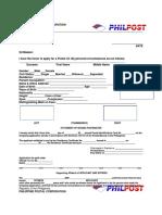 Registry Receipt