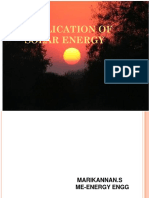 3application of Solar Energy