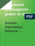 Scriptores Physiognomonie Graeci Et Latini