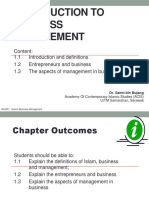 Chapter 1 - Introduction to Islamic Business Management - Nota Student