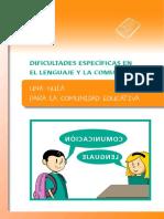 07-Guía Dificultades específicas en el lenguaje y la comunicación