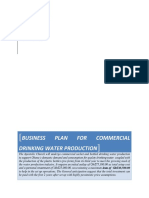 Business Plan for Water Production
