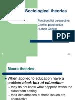 Macro Sociological Theories for EDU 3012 Students