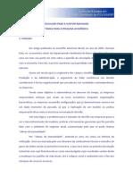FGV GVCES_Educacao Para Sustentabilidade_Temas Para a Pesquisa Academica_2008
