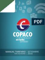 Manual Tarifario de Uso Interno- Setiembre 2016