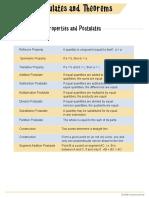Postulate Chart