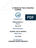 Tarea IV Albert Matematicas