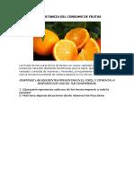 La Importancia Del Consumo de Frutas