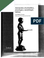 Molina Yévenes - Iniciación a la fonética, fonología y morfología latinas