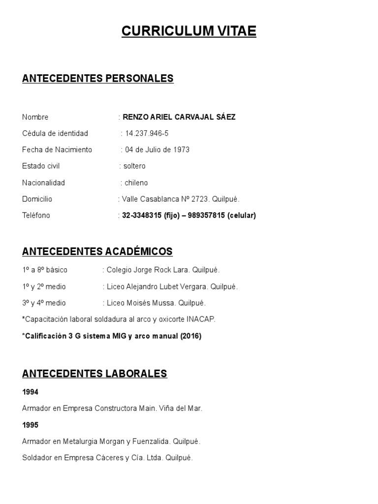 Único Calificaciones Del Curriculum Vitae De Fábrica Colección de ...