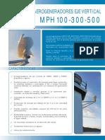 MPH100 300 500 Aerogeneradores Eje Vertical