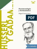30 Husserl y Gadamer - Miguel GarciaBaro
