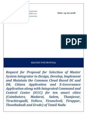 smart city pdf | Request For Proposal | Service Level Agreement