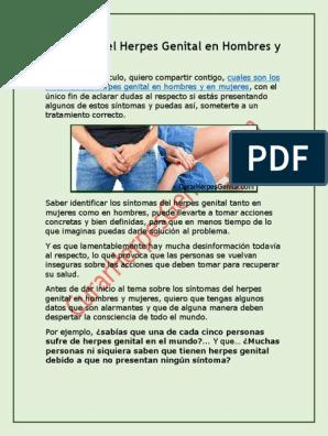 herpes genital sintomas pdf