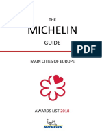 Michelin Main Cities of Europe Guide 2018
