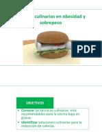 Técnicas Culinarias en Obesidad y Sobrepeso
