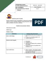 Temario de Evaluaciones de i Periodo 2018 Step Two