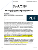 Rethinking Communication Within the Global War on Terrorism
