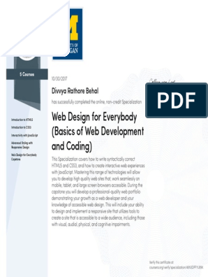 Web Design For Everybody Basics Of Web Development And Coding
