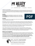 Spy Alley Spy Alley Dice Game Rules (1) (1)