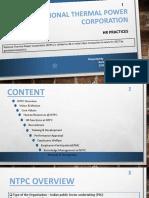 HR Practices NTPC