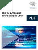 WEF Top 10 Emerging Technologies Report 2017