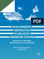 Rodrigo Arocena, Bo Göransson, Judith Sutz-Developmental Universities in Inclusive Innovat