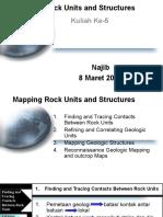 Kuliah Ke-5 Pemetaan Unit Batuan Dan Struktur_2018
