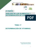 TEMA 17 Vitaminas