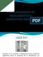 Almacenamiento de Medicamentos y Dispositivos Medicos