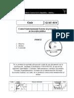 G-014-AU-1 (Control Gubernamental de O I P)